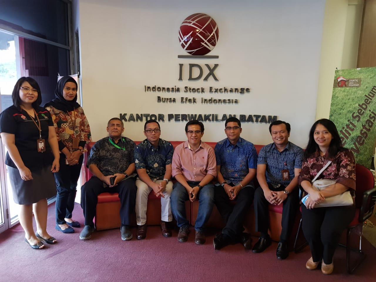 Kunjungan ke Kantor Perwakilan (KP) IDX Batam, Kepulauan Riau