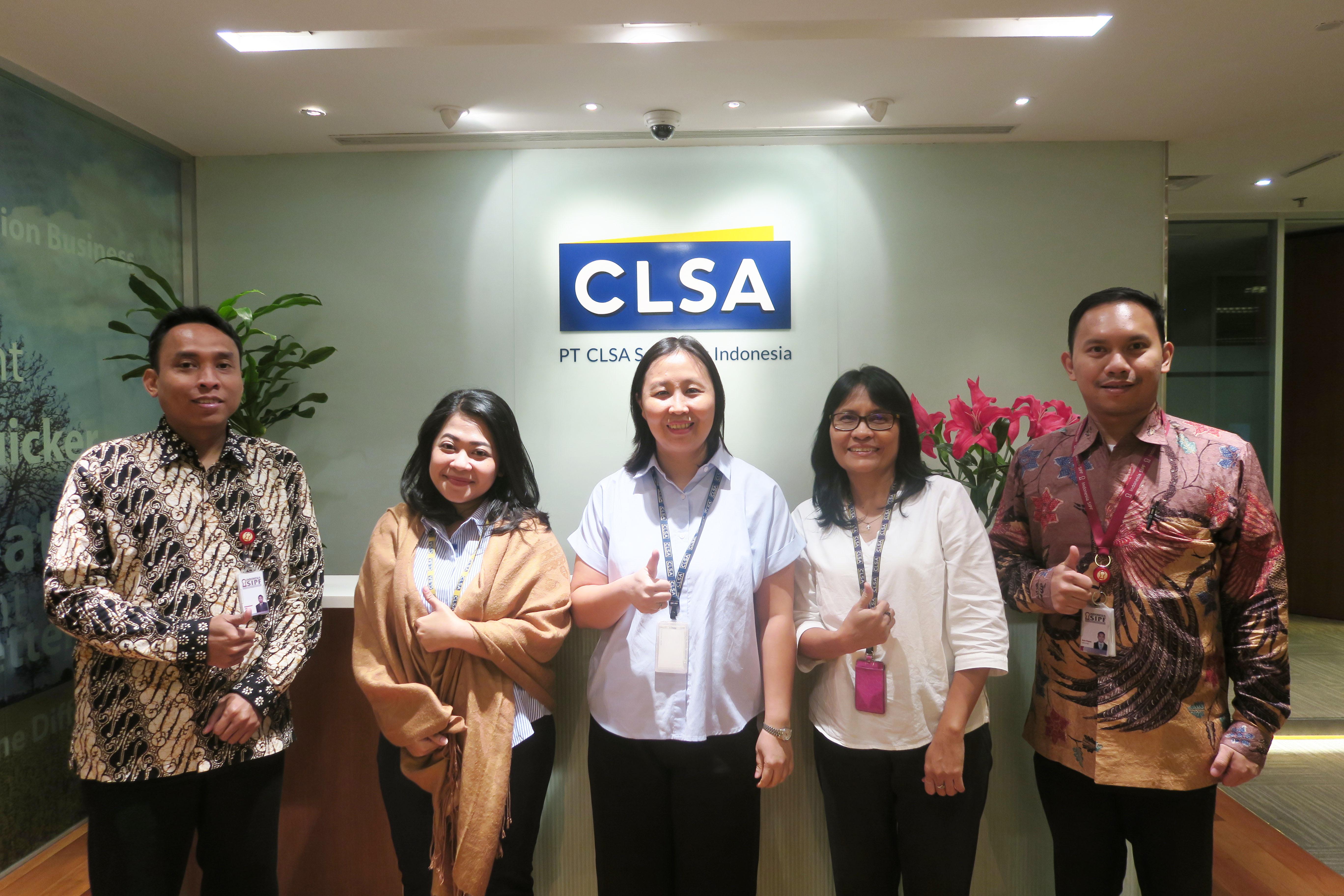 Kunjungan ke PT CLSA Sekuritas Indonesia dalam Rangka Sosialisasi Dana Perlindungan Pemodal